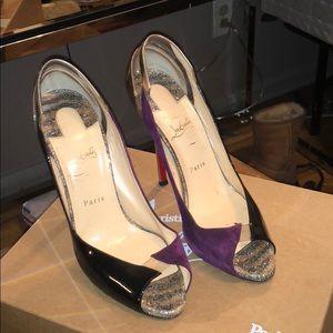 Purple & Black Louboutin Heels